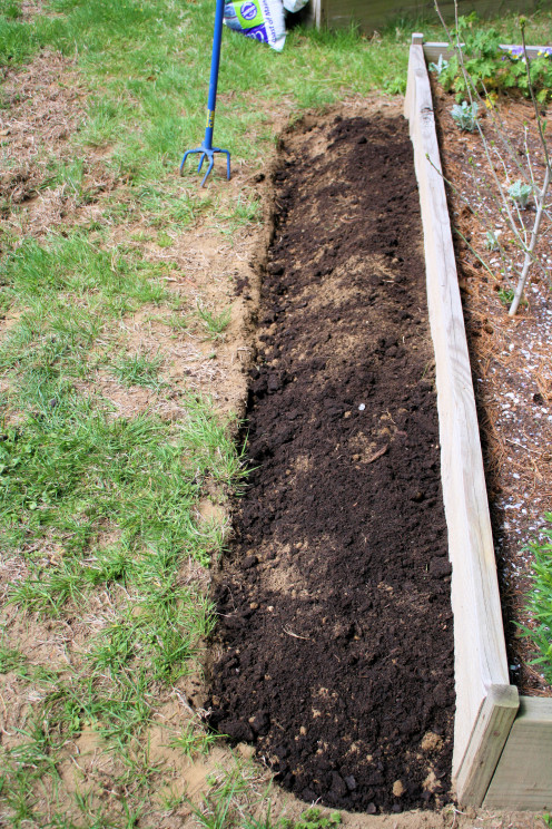 Soil Tilled and Compost Added.