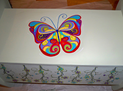 20.  This butterfly is as colorful as our granddaughter's imagination!