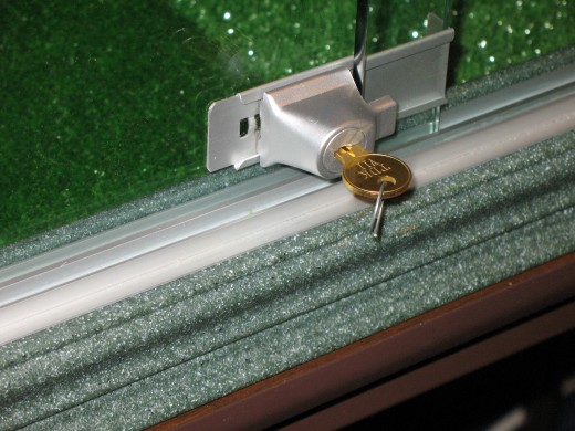 lock on sliding glass door