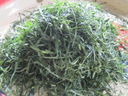Before cooking (Okazi vegetable)