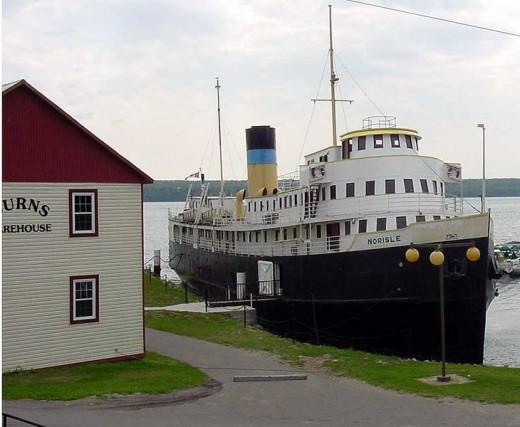 The S.S. Norisle Docked in Manitowaning