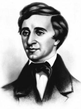 American poet, Henry David Thoreau (born 1817)