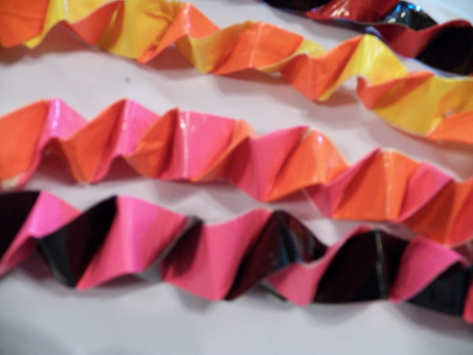 Unfold your Duct Tape Chain!  Have fun decorating!