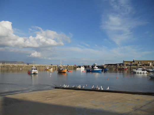 "Lyme Regis Harbour, setting for ""The French Lieutenant's Woman"", and Jane Austen's ""Persuasion"""