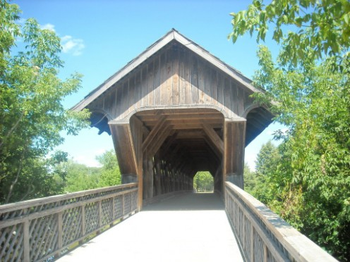 Lattice covered bridge, Guelph, Ontario