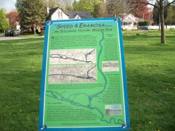 Information panel, Royal City Park, near the Speed River, Guelph, Ontario