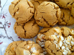 Gluten free, cow milk free almond cookies with coconut--yum!