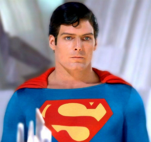 Christopher Reeve as the iconic last son of krypton.