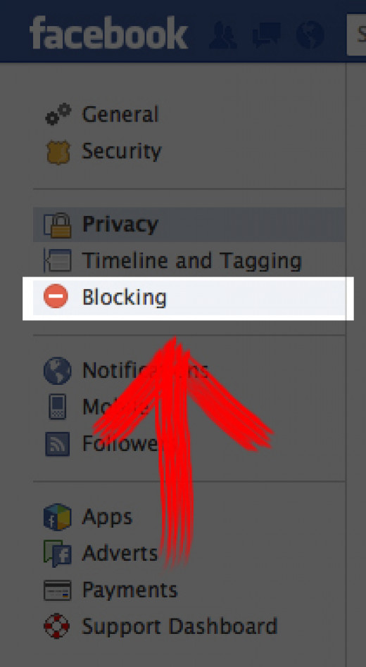 "Select the ""Blocking"" option"