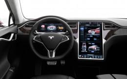 The Tesla model S cockpit.