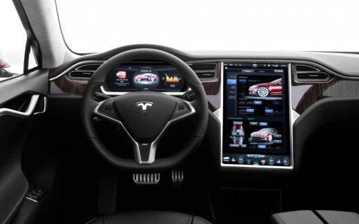 The Tesla model S cockpit.