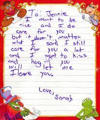 Creepy handwriting optional.