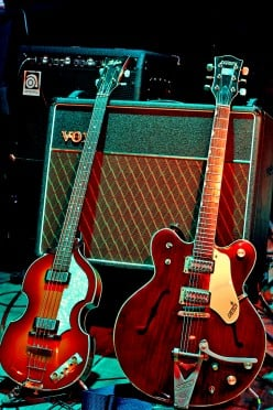 Two guitars propped up against a small Vox amplifier. The profound words of 'My Guitar Gently Weeps' really epitomizes what The Beatles could do with their tools.