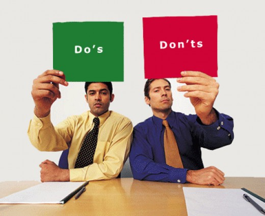 Do's & Don'ts which You need to Remember while Preparation