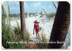Photos and Memories in Fort Walton Beach, Florida ~ Dazzling White Sand