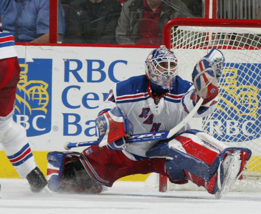 Two outstanding goaltenders square off in Henrik Lundqvist (above) and Tuukka Rask (below)