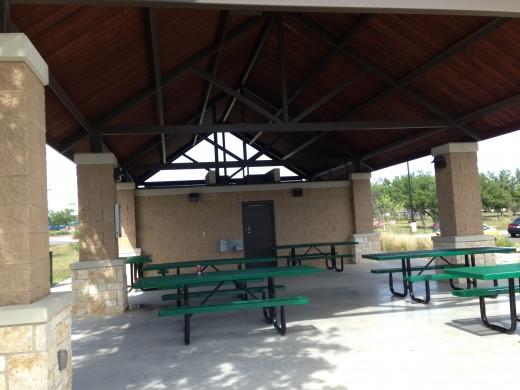 Picnic Pavilion  - Veterans Memorial Playgrounds & Picnic Area - Cedar Park TX