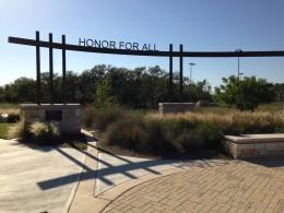 Entrance to the Veterans Memorial Park - Cedar Park TX