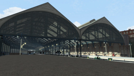 Brighton Station is beautifully modeled