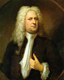 "George Friedrich Handel, composer of the oratorio ""Messiah"""