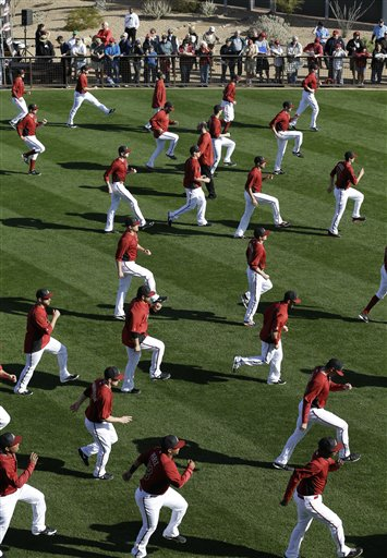 Team Stretches Out Before Pre-Game Warm Ups