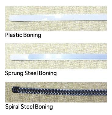 Boning types for corset making