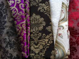 Damask and heavyweight embroidered fabrics perfect for making corset training corsets