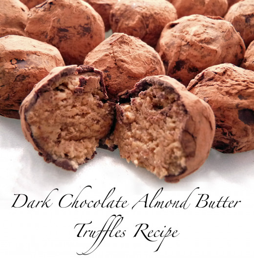 Truffle fans will love these delicious homemade Dark Chocolate Almond Butter Truffles.