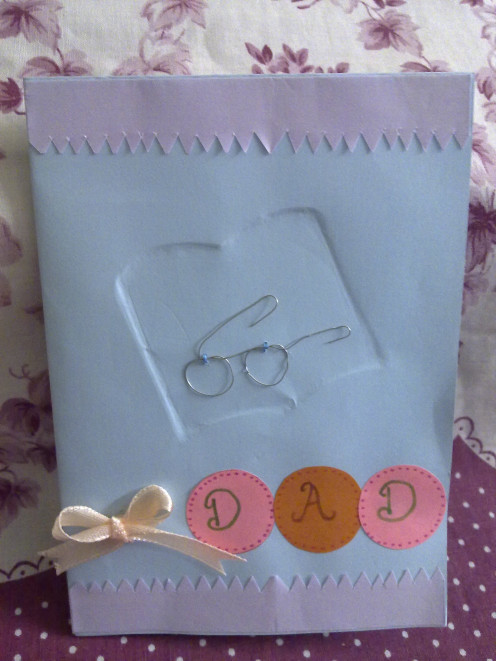 handmade Embossed Father's Day Card
