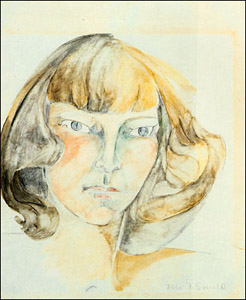 Self-portrait painted by Zelda Sayre Fitzgerald