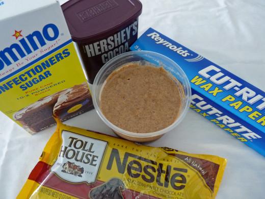 Ingredients for Dark Chocolate Almond Butter Truffles