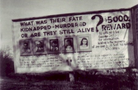 The original billboard before the mystery photo was added in 1968.