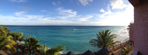 This is the view from our balcony
