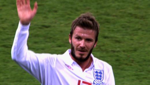 David Beckham Footballer.