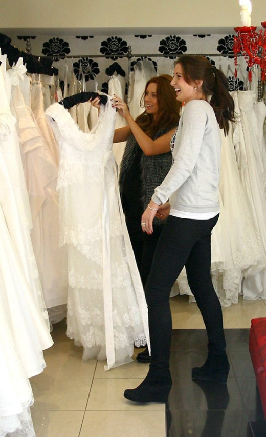 Woman Looking For Wedding Gown