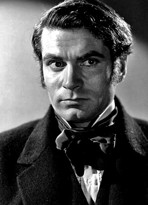 Laurence Olivier's portrayal of Heathcliff in the 1939 film version of Wuthering Heights.