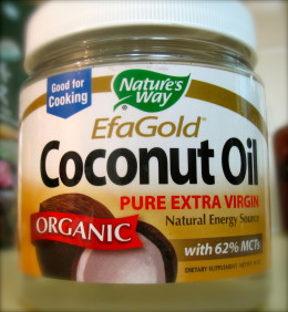 Nature's Way makes an affordable organic extra virgin coconut oil
