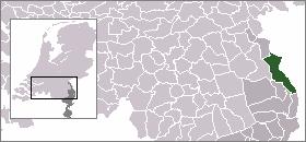 Map location of Bergen, Limburg