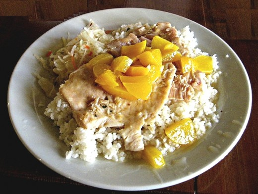 Peaches can be added to many chicken and pork dishes