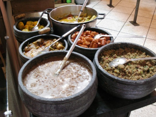 Tasty foods can easily be found in this small mountain town of Ouro Preto, Brazil.