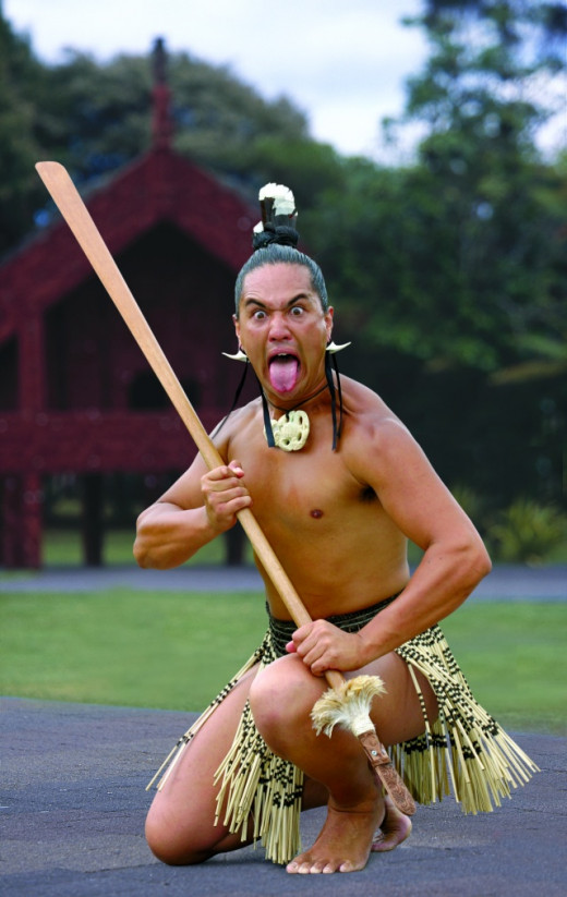 A traditional Maori Warrior