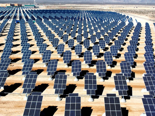 Solar Farm in the desert.