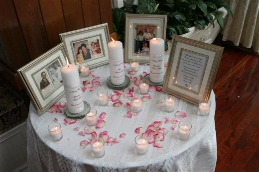 Memorial Table At Reception
