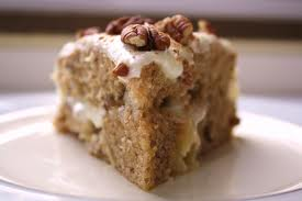 Recipe is for a two-layered Hummingbird Cake.