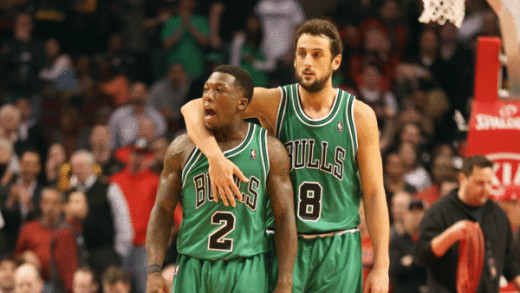 Nate Robinson and Marco Belinelli