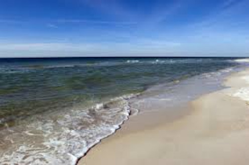 The beaches are beautiful in Gulf Shores, Alabama. It's a great place to lay out in the sun or play volleyball on the beach.