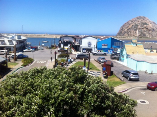Another view of the embarcadero in Morro Bay.