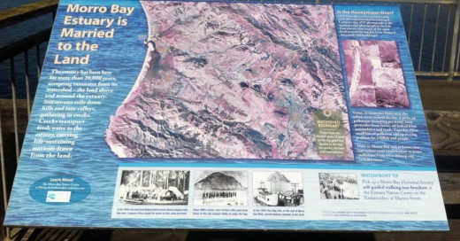 A plaque that offers historical information about Morro Bay.