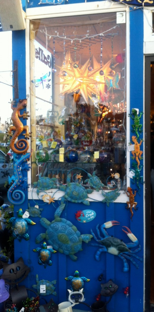 Some of the merchandise offered by the Under the Sea Gallery.