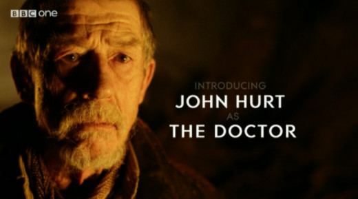 John Hurt as the mysterious incarnation of the Doctor